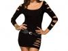 robe-noire-laceree