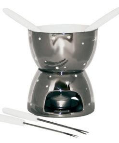 Service pour fondue au chocolat avec fourchettes