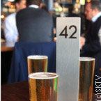 bière au Founders' Club à Londres