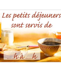 Déco Style bistrot : pancarte horaire petit-déjeuner