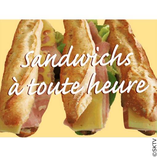 Déco style bistrot : pancarte Sandwiches à toute heure