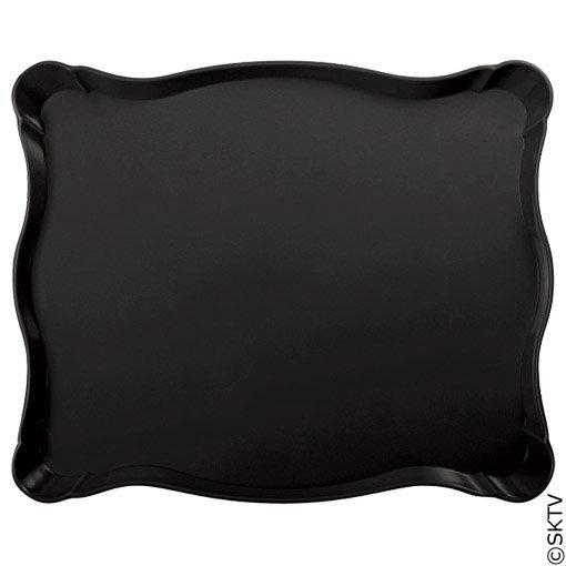 Plateau baroque noir 49x40cm