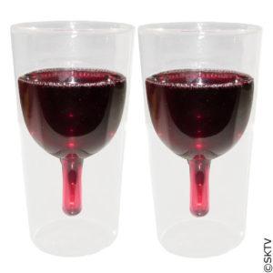 verres double paroi trompe l'oeil