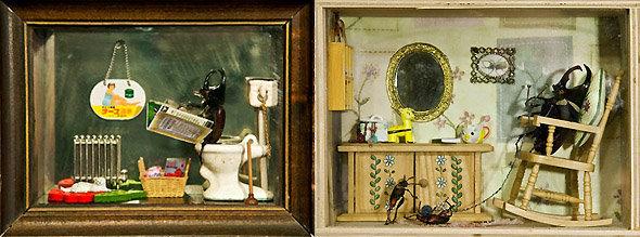Dioramas anthropomorphiques de Daisy Tainton