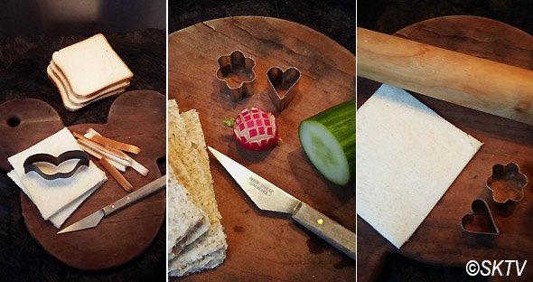 Sandwiches anglais : du pain sans croûte et passé au rouleau !