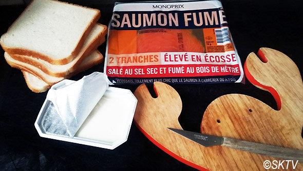 Sandwiches anglais au saumon