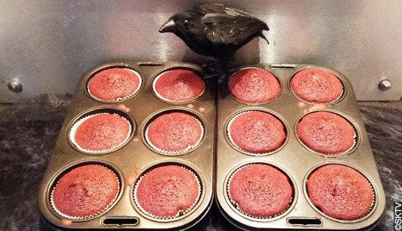 Cupcakes velours : des cupcakes rouge au cacao !