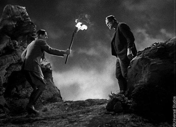 Le Frankenstein de Whale (1931) : la rencontre de Henry et sa créature dans la montagne