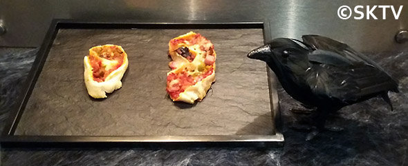 Horrifique pizza d'halloween