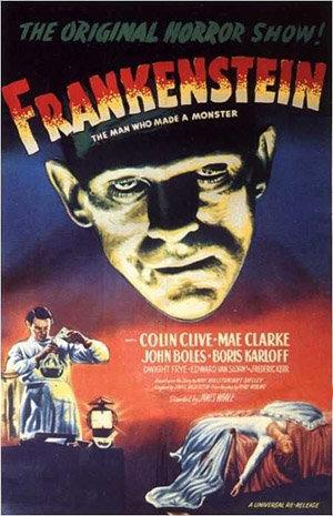 Le Frankenstein de Whale (1931) : l'affiche du film