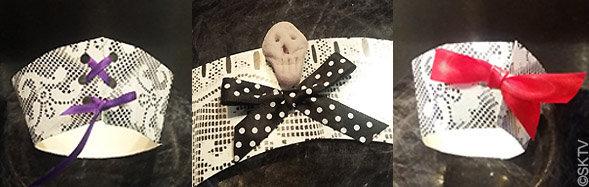 contours cupcakes Halloween : laçage et déco