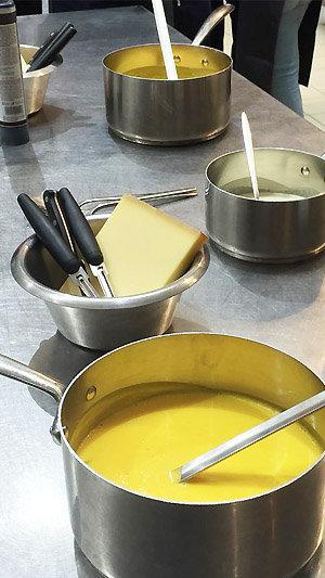 Velouté de Butternut : crème et Beaufort AOP