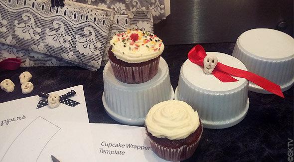 contours cupcakes Halloween : récup