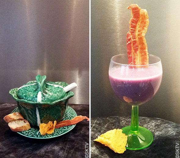 soupe violette Halloween