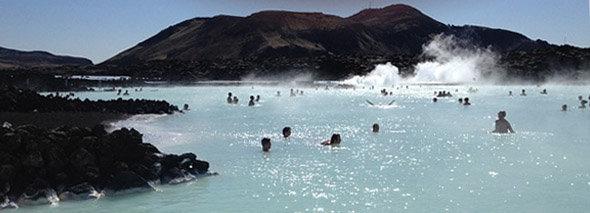 Lagon noir, Lagon bleu, Blue lagoon, Iceland
