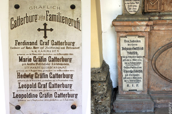 Cimetière St. Sebastian de Salzbourg : plaques funéraires écriture gothique