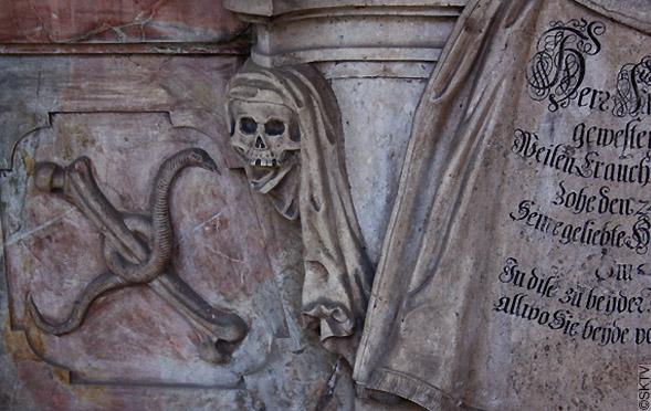 Cimetière St. Sebastian de Salzbourg : représentation de la mort