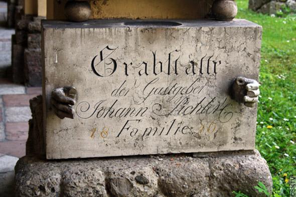 Cimetière St. Sebastian de Salzbourg : tombe de Johann Pichler