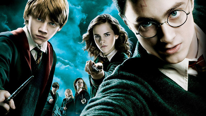 Icône article Silhouettes photo Harry Potter : portrait Hermione, Harry et Ron