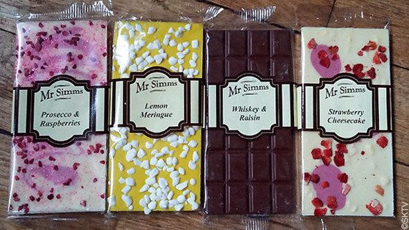 Mr Simms : les tablettes de chocolat de la marque