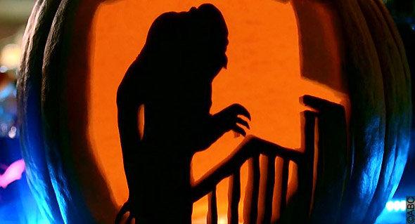 épisode spécial halloween Castle : sculpture de citrouille
