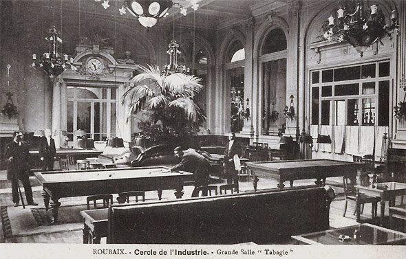 L'Ecorcheur du Fontenoy : une des salles du Cercle de l'Industrie en 1918