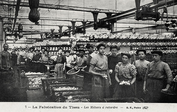 L'Ecorcheur du Fontenoy : ouvrières des filatures de Roubaix en 1910