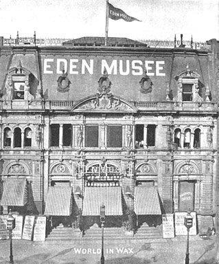 Musée Eden, document d'époque : vue plongeante sur la façade en 1899