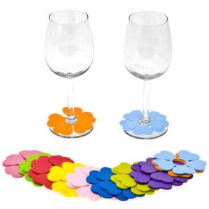 Marque-verre couleur psychédéliques (lot de 20)
