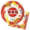 Vaisselle jetable BBQ Party : assiettes plates 22cm et serviettes en papier, la base !