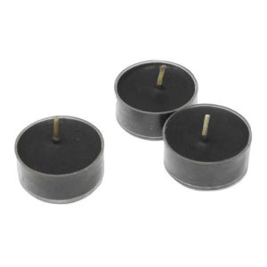 bougies chauffe-plat halloween coloris noir