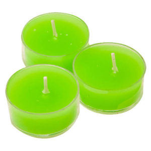 bougies chauffe-plat halloween coloris vert fluo