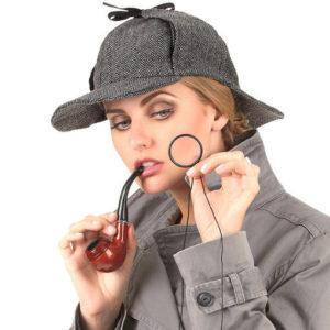 L'accessoire déguisement deerstalker est taille unique et unisexe