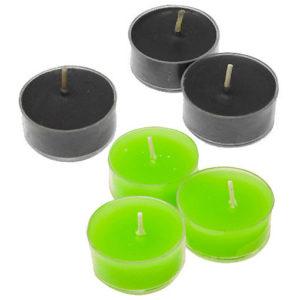 bougies chauffe-plat halloween noir ou vert fluo