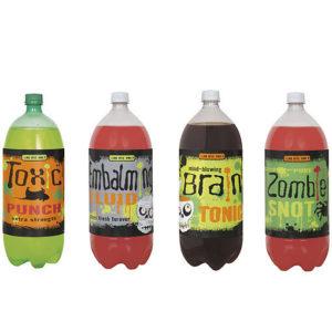 étiquettes bouteilles halloween : lot de 4