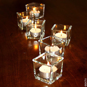 Mini photophores cubes (lot de 6)