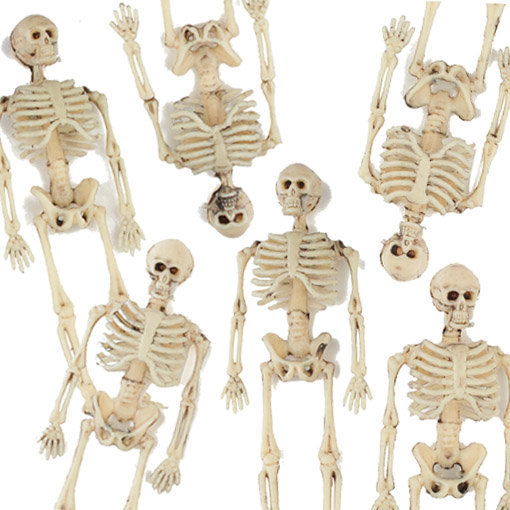 mini squelette halloween 15 cm