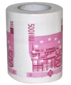 Papier toilette 500 euros