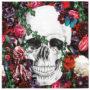 Serviettes en papier flower skull pour halloween