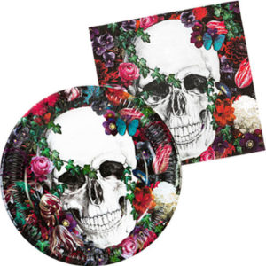 set-jetable-halloween-flower-skull