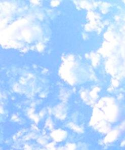 Coussin photo ciel bleu : un temps de rêve !