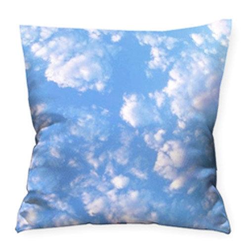 Coussin photo ciel bleu 45x45 cm