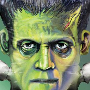 ballon halloween Frankenstein gonflé à l'hélium