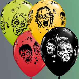 ballon halloween zombie 4 couleurs assorties