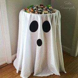 Déco à thème fantôme : trick or treat