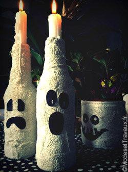 Déco à thème fantôme : bougeoirs halloween