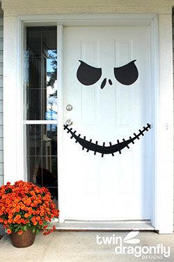Déco à thème fantôme : tenture de porte halloween