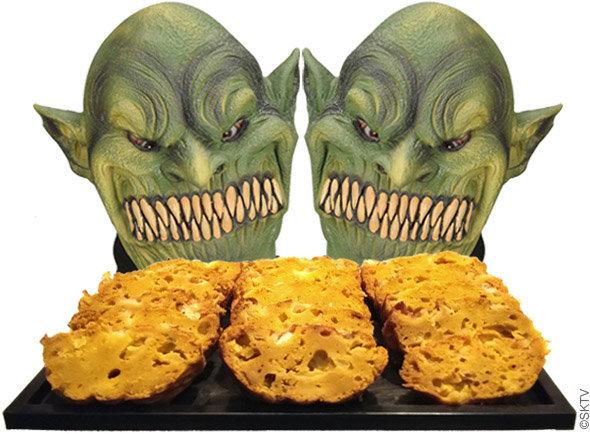 Cake apéritif au potimarron et gorgonzola : les monstres d'halloween l'adorent !