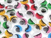 Accessoires déco à thème fantôme : yeux mobiles colorés