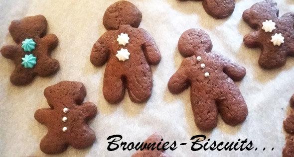 Brownies-biscuits à la sortie du four...
